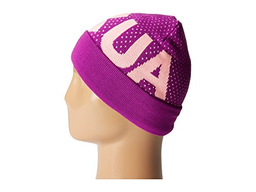 Under Armour Girl's Favorite Beanie (Little Kids/Big Kids) Purple Rave/Pop Pink/White Hat by Under Armour (Image #3)