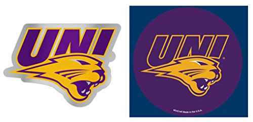 Acrylic Die Cut Magnet - WinCraft Bundle 2 Items: Northern Iowa Panthers 1 Auto Badge Decal and 1 Die Cut Magnet