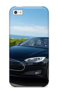 Theodore J. Smith's Shop Iphone 5c Case Cover - Slim Fit Tpu Protector Shock Absorbent Case (tesla Model S 38) 4406501K65530449