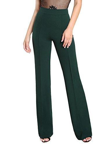 SheIn Women's Casual Stretchy High Waist Wide Leg Dress Pants