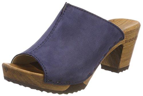 Woody Damen Elly Klompen Blau (abisso)