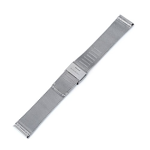 18mm Classic Vintage Knitted Superfine Wire Mesh Watch Band, Brushed by MiLTAT (Image #3)