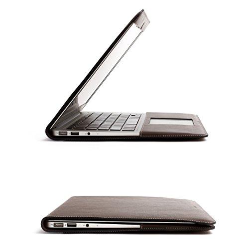 ZENDO MacBook 12'' Leather Cover (Full-Grain Shrunken Calf Leather) | PRIMO Luxury Full-Grain Leather [SIZE: MacBook 12'' | AQUABLUE] by Zendo (Image #6)