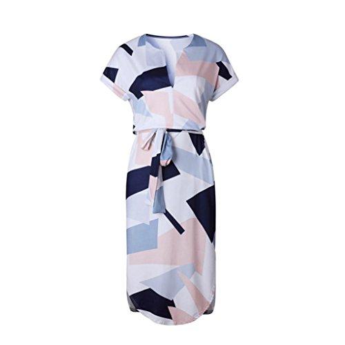 Letter Mme manches courtes taille imprimé robe de tenue décontractée