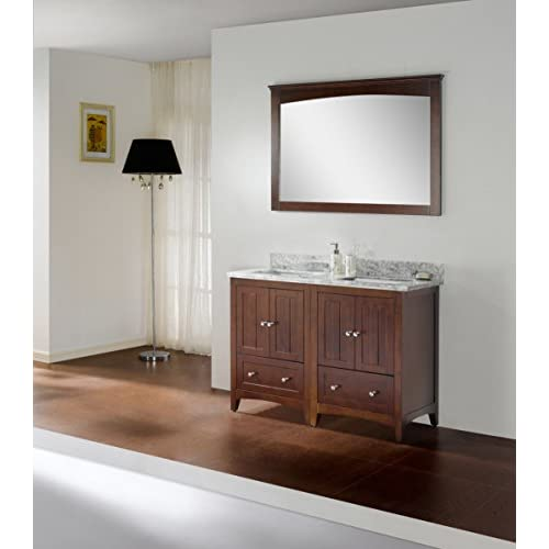 "outlet Jade Bath JB-17774 47.5"" W x 18"" D Plywood-Veneer Vanity Set, Walnut"