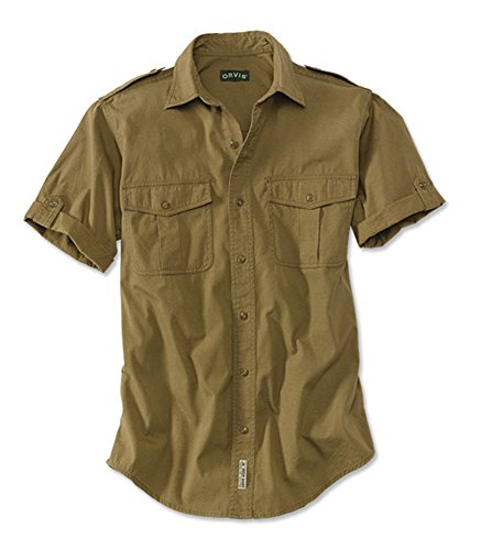 Orvis Men's Short-sleeved Bush Shirt, British Tan, Xx Large