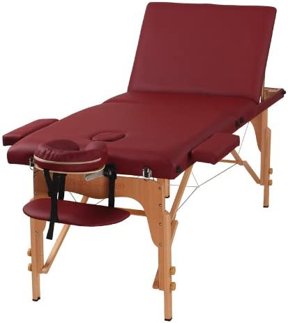 Uenjoy Massage Bed 72 Professional Folding Massage Table 2 Fold, Basic Portable, Black