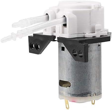 Naroote Schlauchpumpe, DC12V/24V Dosierpumpe DIY Schlauchkopf für die chemische Analyse im Aquariumlabor(white12v 2 * 4)