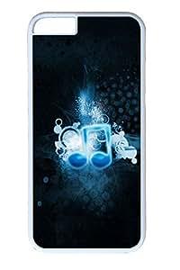 iphone 6 plus 5.5inch Case Icon Music Black PC Hard Plastic Case for iphone 6 plus 5.5inch Whtie