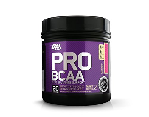 OPTIMUM NUTRITION Pro BCAA Powder with Glutamine, Raspberry Lemonade, Keto Friendly Branched Chain Amino Acids, 20 Servings (Packaging May Vary) ()
