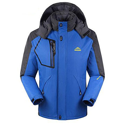 Sport Outdoor Sportswear Hiking Design Waterproof Hooded Jacket Ski Mens Camping Blue Jackets Raincoat Men Winter Softshell X016qfP