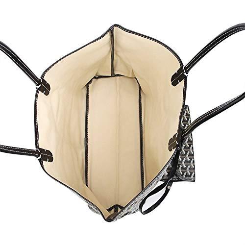 Stylesty Fashion Shopping PU Tote Bag, Designer Shoulder Handbags with Key Ring … (Medium, White1) by Stylesty (Image #4)