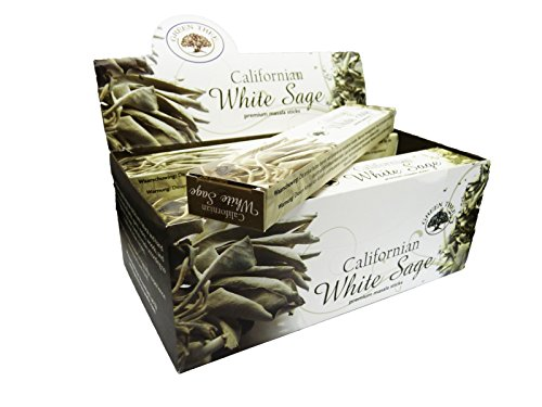 Green Tree Californian White Sage Incense Box of 12 Packs