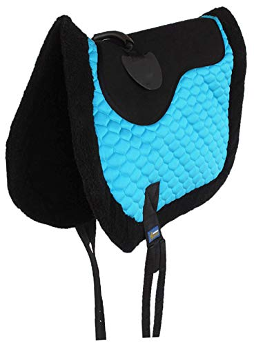 - Professional Equine Horse Quilted English Bareback PAD Trail Fleece Neoprene Turquoise 72F48TR