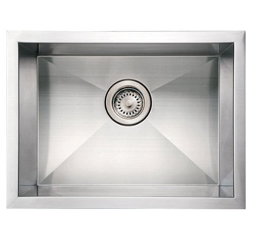 Whitehaus WHNCM2015-BSS Noah's Collection 20-Inch Commercial Single Bowl Undermount Sink, Brushed Stainless Steel by Whitehaus ()