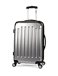 iFLY Carbon Racing Hard Sided Medium Checked Luggage, Silver