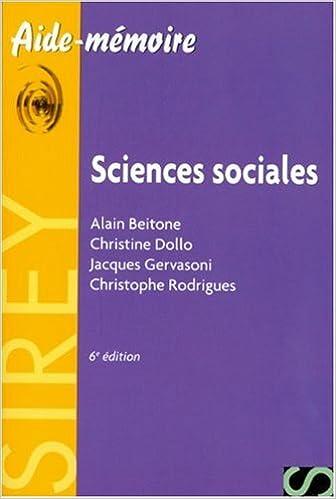 Livres gratuits Sciences sociales - Aide-mémoire pdf, epub