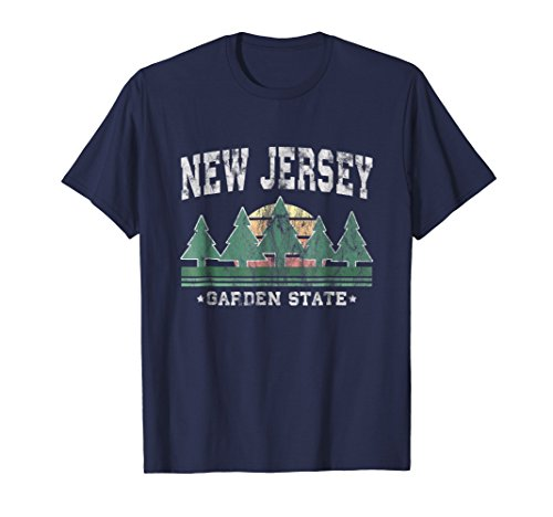(New Jersey T-Shirt Retro Vintage Shirt Gift Men Women Kids)