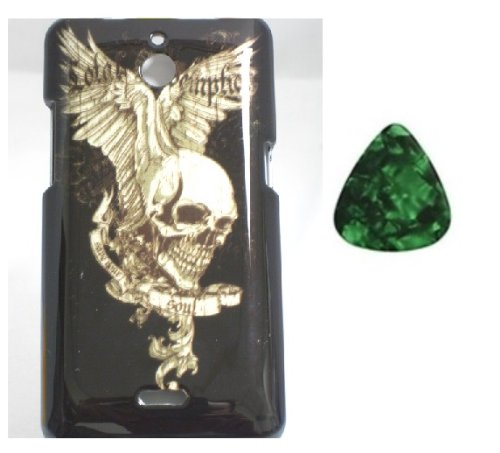 For Huawei Valiant Y301 / Huawei Ascend Plus H881c / Huawei Ace Hard Faceplate Phone Cover Case - Skull w Wing + Free Green Stone Pry Tool]()