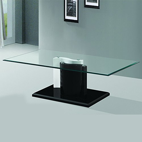 - Fab Glass and Mirror FGM-BC102 Modern Coffee, Dining Room Glass Table, 43