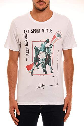 Camiseta Estampada, Coca-Cola Jeans, Masculino, Branco, P