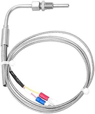 Tipo K 50-400C Sensore di temperatura sonda termocoppia di 1m di lunghezza