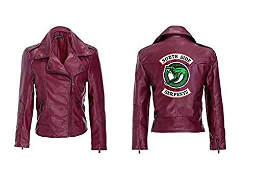 (Fashco Riverdale Love Your Own Baseball Jacket Uniform Riverdale Collection Women Sweatshirt Sweater Jacket (Red) (Red 3, Medium))
