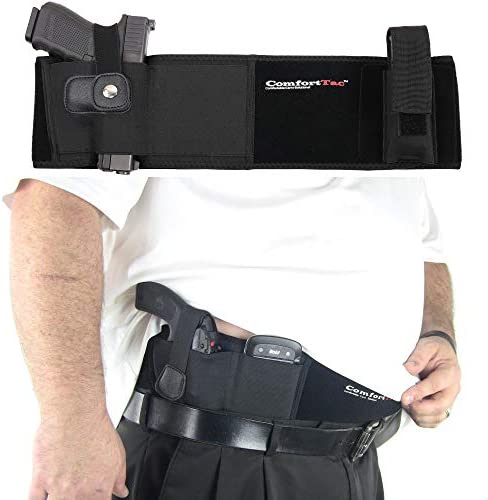 ComfortTac XL Ultimate Belly Band Holster for Concealed CarryBlackFits Gun