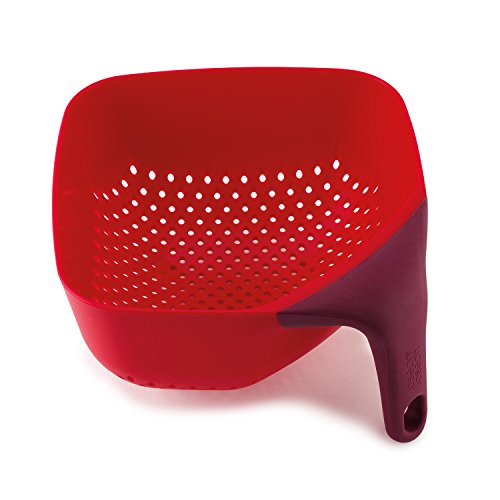 - Joseph Joseph 40060 Square Colander, Medium, Red