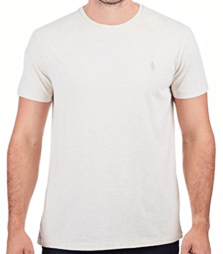 Polo Ralph Lauren Men's Classic Fit Crew-Neck T-Shirt Cotton (Medium, Chalk - Ralph Polo Lauren Colors