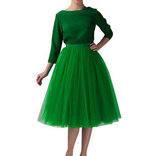 WDPL Adult Tulle Skirt Bridesmaid Petticoat Tutu for Women 2XL Emerald