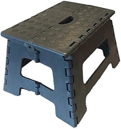 Portable 32/x 25/x 22/cm Gris jusqu/à 150/kg antid/érapant et Peu encombrant SBS Marchepied