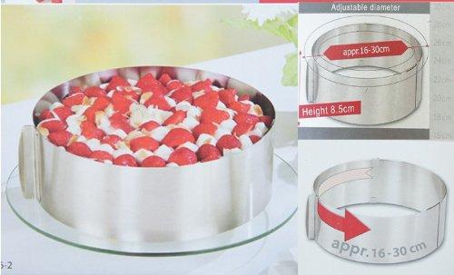 Chris's Home Cake Pan Baking Tools Set Adjustable Cake Pan Cake Mold Size Retractable Stainless Steel Circle Mousse Ring