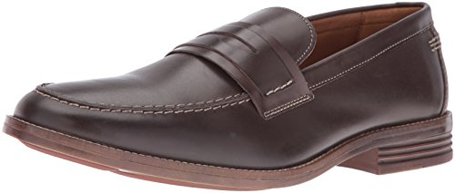 Hush Puppies Men's Gallant Parkview Penny Loafer, Dark Brown Leather, 10 W US