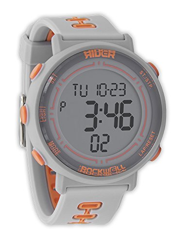 Rockwell Time RGF-105 Game Face Digital Dial Watch, Gray/Orange by Rockwell Time