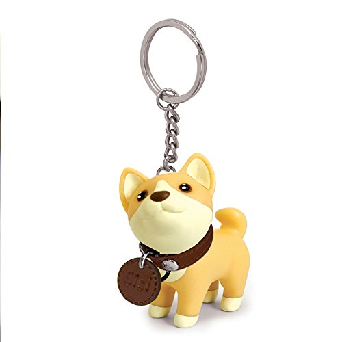 Eleoption Cute Dog Key Chains for for Couples Mens Women Kids, Animals Keychains for Car Keys Backpacks (Corgi)