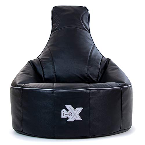 i-eX® Rookie Gaming Chair -Faux Leather - Kids Gaming Bean Bag - Great for a Gamer (Steel/Black) - Buy Online in UAE. | Kitchen Products in the UAE - See ...  sc 1 st  Desertcart & i-eX® Rookie Gaming Chair -Faux Leather - Kids Gaming Bean Bag ...