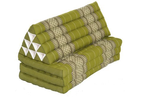 Lavish Time Set: Cushions and Pillows in Thai Traditional Design Bamboogreen, 3 Pieces