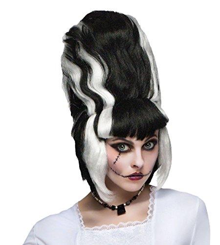 [Adult Womens Monster Bride Frankenstein Wig Hair Halloween Costume Accessory] (Frankensteins Bride Costume)