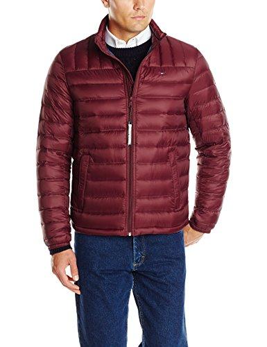 2015 Men Coat - Tommy Hilfiger Men's Packable Down Jacket (Regular and Big & Tall Sizes), Merlot, Large