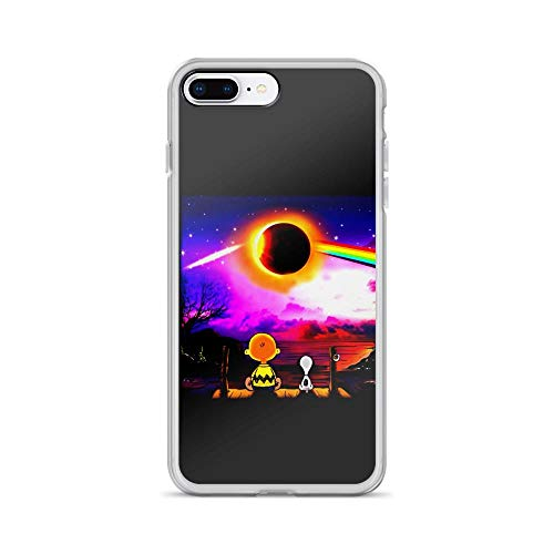 iPhone 7 Plus/8 Plus Pure Clear Case Cover Charlie and Snoopy Watching Solar Eclipse