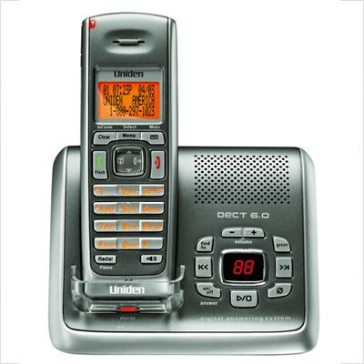 Uniden DECT2080 DECT 6.0 Cordless Phone/Digital Answering Sy