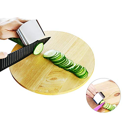 (Stainless Steel Sliicer Hand Guard Finger Protect Cutting Vegetable Protector Kitchen Tools Cooking Gadgets Tool 8.5x6cm)