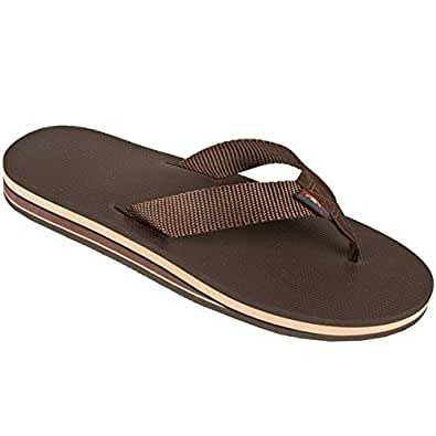 Rainbow Sandals Double Layer Arched Classic Sandals, Blue, XX-Large (12-13.5)