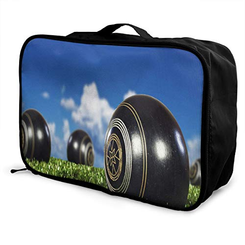 - Travel Bags Lawn Bowls Portable Suitcase Trolley Handle Luggage Bag