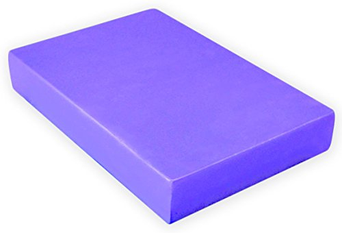 12' Mat Stack (YogaAccessories 2'' Foam Yoga Brick - Purple)