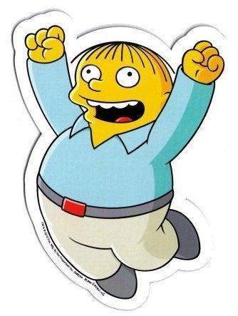 Simpsons Ralph Car Magnet -