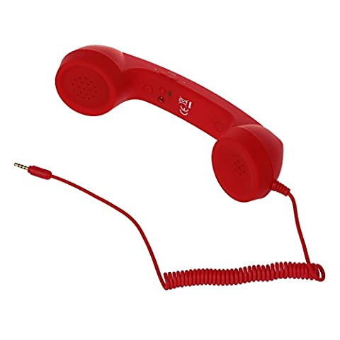 TOOGOO(R) Classic Retro Handset for Cell Phones, iPad 2, iPad, iPhone 4 4G 3GS 3G (AT&T and Verizon), iPod touch (2G 3G 4G), HTC Android EVO, Blackberry, Samsung Galaxy S, Droid (Soft Touch - 3g Handset