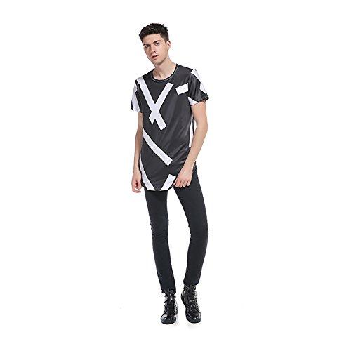 da61c35757684 new Fans 2018 Nueva camiseta Fruit Of The Loom 3D Camiseta manga corta  estampada geométrica Half