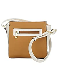 TravelSmith RFID Crossbody Bag with Anti-Theft Pacsafe Features - White / Camel